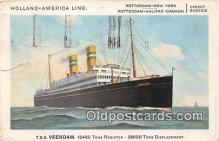 shi062509 - TSS Veendam Holland America Line Ship Postcard Post Card