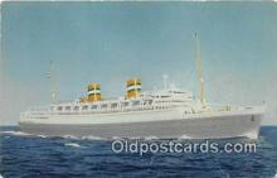 shi062510 - SS Nieuw Amsterdam Holland America Line Ship Postcard Post Card
