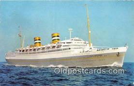 shi062511 - SS Nieuw Amsterdam Holland America Line Ship Postcard Post Card