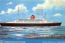 shi062512 - SS Statendam Holland America Cruises Ship Postcard Post Card