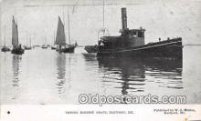 shi065010 - Towing Sardine Boats Eastport, ME Ship Postcard Post Card