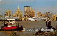 shi065013 - New Orleans Mississippi River Ship Postcard Post Card