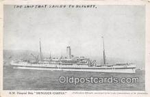 shi070002 - HM Hospital Ship Dunluce Castle  Ship Postcard Post Card