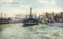 shi075005 - South Ferry, New York, USA Ferry, Ship Ships Postcard Postcards