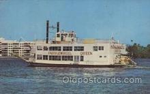 shi075006 - The Paddlewheel Queen, Florida,USA Ferry, Ship Ships Postcard Postcards