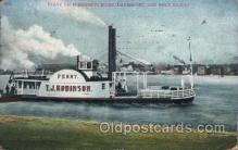 shi075008 - Mississippi River, USA Ferry, Ship Ships Postcard Postcards