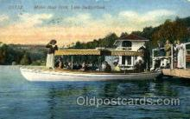shi075014 - Motor Boat Dock Ferry Boat, Boats Postcard Postcards
