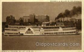shi075020 - Steamer J.S. De Luxe, Streckfus steamer Ferry Boat, Boats Postcard Postcards