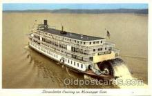 shi075021 - Sternwheeler Cruising on Mississippi River Ferry Boat, Boats Postcard Postcards