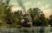 shi075023 - Scean on the Ocklawaha River Ferry Boat, Boats Postcard Postcards