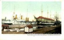 shi075028 - Navy yard, Boston, Massachusett, USA Ferry Boat, Boats Postcard Postcards