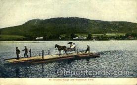 shi075040 - Mt.Holyoke Range, Hockanum Ferry Ferry Boat, Boats Postcard Postcards