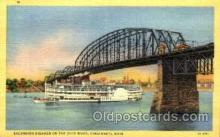 shi075050 - Excursion Steamer, Ohio, USA Ferry Boat, Boats Postcard Postcards