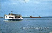 shi075073 - Soo locks boat tours, Michigan, USA Ferry Boat, Boats Postcard Postcards