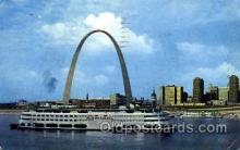 shi075098 - Saint Louis Missori, USA, the gate way to the west Ferry Boat, Boats Postcard Postcards