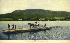 shi075102 - Mt. Holyoke Range, Hockanum Ferry Ferry Boat, Boats Postcard Postcards