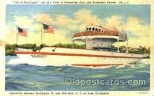 shi075104 - City of Burlington Ferry Boat, Boats Postcard Postcards