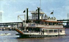 shi075107 - M.V. Huck Finn Ferry Boat, Boats Postcard Postcards