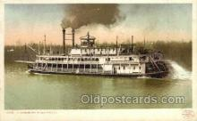 shi075123 - A Mississippi River Packet Ferry Boats, Ship, Ships, Postcard Post Cards