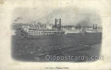 shi075132 - Coal Fleet In Pittsburg Harbor Ferry Boats, Ship, Ships, Postcard Post Cards