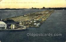 shi075139 - Lumber Raft On The Mississippi River Ferry Boats, Ship, Ships, Postcard Post Cards