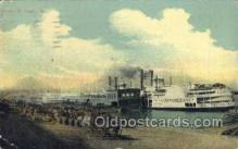 shi075142 - Levee, St Louis MO USA Ferry Boats, Ship, Ships, Postcard Post Cards