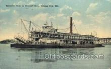 shi075149 - Excursion Boat On The Missouri  Ferry Boats, Ship, Ships, Postcard Post Cards