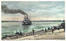 shi075158 - Mississippi River Rock Island Ferry Boats, Ship, Ships, Postcard Post Cards