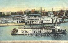 shi075162 - US Govt Yards On The Mississippi Ferry Boats, Ship, Ships, Postcard Post Cards