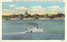 shi075165 - Ferry Boat Rock Island Ferry Boats, Ship, Ships, Postcard Post Cards