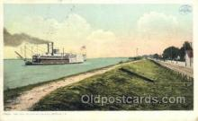 shi075166 - The Levee At Chalmette Ferry Boats, Ship, Ships, Postcard Post Cards