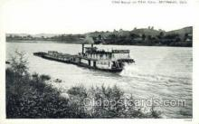 shi075169 - Coal Barge On The Ohio River, Middleport, Ohio Ferry Boats, Ship, Ships, Postcard Post Cards