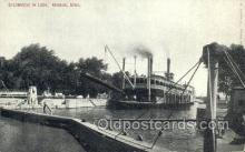 shi075173 - Steamboat In Lock, Keokik Iowa Ferry Boats, Ship, Ships, Postcard Post Cards