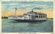 shi075179 - Pilgram Travelers Tourist, Cairo, Illinois, USA Ferry Boats, Ship, Ships, Postcard Post Cards