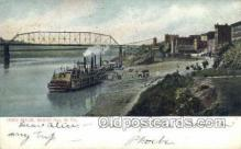 shi075186 - Ohio River Wheeling, West Viginia, USA Ferry Boats, Ship, Ships, Postcard Post Cards