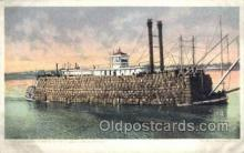 shi075189 - Mississippi River Packet Ferry Boats, Ship, Ships, Postcard Post Cards