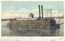 shi075190 - Mississippi River Packet Ferry Boats, Ship, Ships, Postcard Post Cards