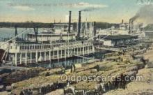 shi075194 - Loading Cotton Along The Mississippi Ferry Boats, Ship, Ships, Postcard Post Cards