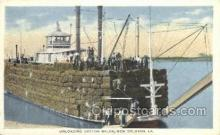 shi075197 - Unloading Cotton Off A Mississippi Steamboat, New Orleans, LA, USA Ferry Boats, Ship, Ships, Postcard Post Cards