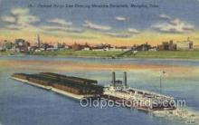 shi075215 - Federal Barge line Entering Memphis, Tenn, USA Harbor Ferry Boats, Ship, Ships, Postcard Post Cards