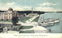 shi075228 - Public Library At Waterworks Park Ferry Boats, Ship, Ships, Postcard Post Cards