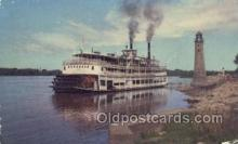 shi075231 - Excursion Boat On The Mississippi River Ferry Boats, Ship, Ships, Postcard Post Cards