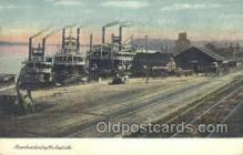 shi075239 - Steamboat Landing, Burlington, Iowa, USA Ferry Boats, Ship, Ships, Postcard Post Cards