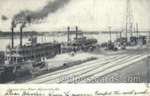 shi075242 - Missouri River Front Ferry Boats, Ship, Ships, Postcard Post Cards