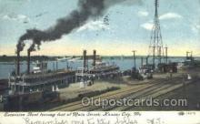 shi075244 - Excursion Boat leaving Foot Of Main Street Ferry Boats, Ship, Ships, Postcard Post Cards