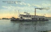 shi075245 - Missouri River Front Ferry Boats, Ship, Ships, Postcard Post Cards