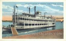 shi075254 - Excursion Steamer On The Mississippi, Clinton, Iowa, USA Ferry Boats, Ship, Ships, Postcard Post Cards