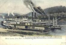 shi075271 - Wharft Scene Ohio River Ferry Boats, Ship, Ships, Postcard Post Cards
