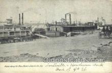shi075272 - Scene Along The Ohio River Ferry Boats, Ship, Ships, Postcard Post Cards