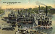 shi075274 - Wharf Scene Cumberland River Ferry Boats, Ship, Ships, Postcard Post Cards
